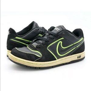 Nike Mens Air Prestige Black Lime Green Sneakers